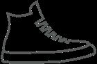 Magas szárú tornacipők