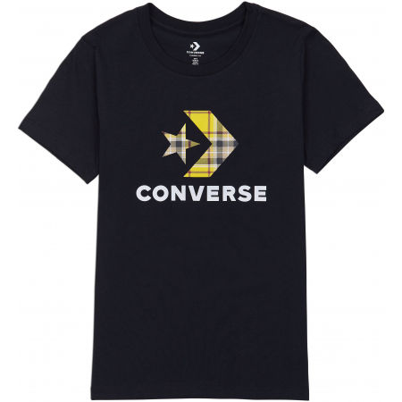 Converse WOMENS STAR CHEVRON PLAID INFILL TEE