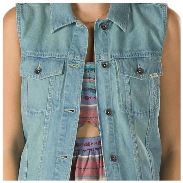 DISORDER VEST - Női jeans mellény