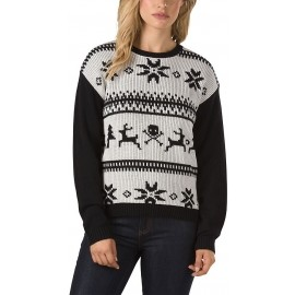 Vans W IM TOASTY SWEATER HOLIDAY WHITE S