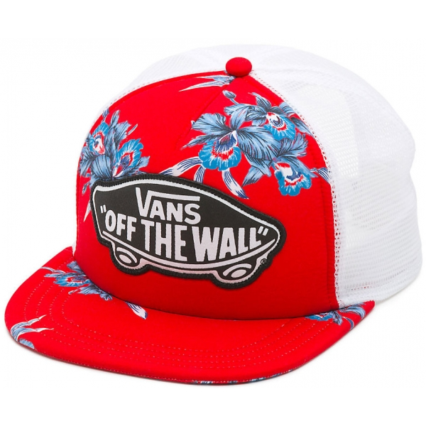 Vans BEACH GIRL TRUCKER HAT Tomato Hawaiian | molo sport.hu
