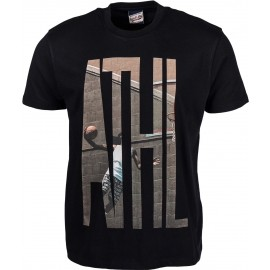 Russell Athletic S/S CREW TEE WITH 'ATHL.' PHOTO-EFFECT PRINT