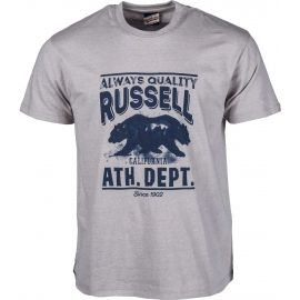 Russell Athletic S/S CREW TEE WITH DISTRESSED BEAR PRINT