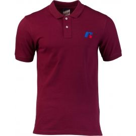 Russell Athletic CLASSIC POLO WITH SLANTED R SATINE EMBROIDERY