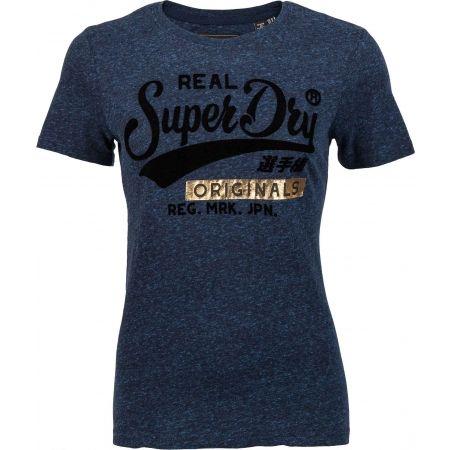 Superdry REAL ORIGINALS FLOCK METALLIC ENTRY TEE