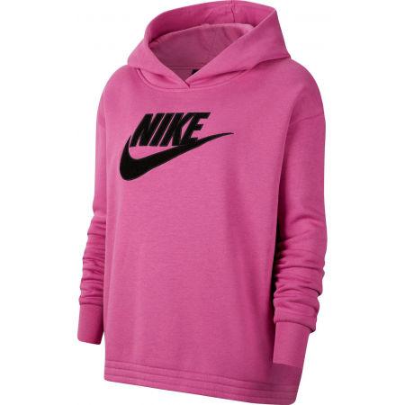 Nike NSW ICN CLSH FLC HOODIE PLUS W